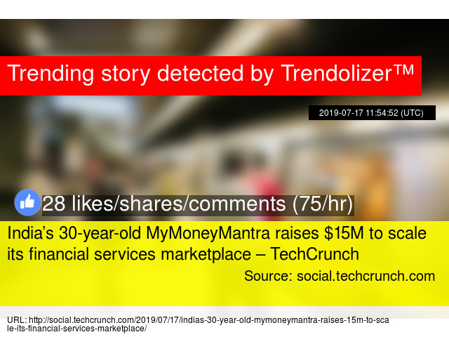 India's 30-year-old MyMoneyMantra raises $15M to scale its