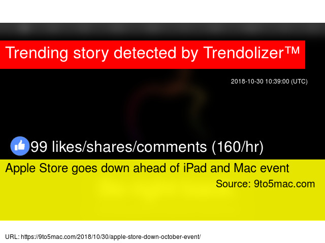 Apple Store goes down ahead of iPad and Mac event