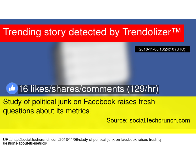 Study of political junk on Facebook raises fresh questions about its