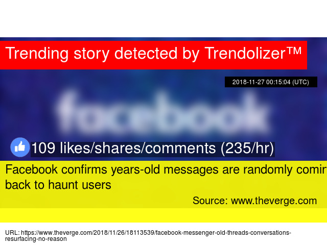Facebook confirms years-old messages are randomly coming back to