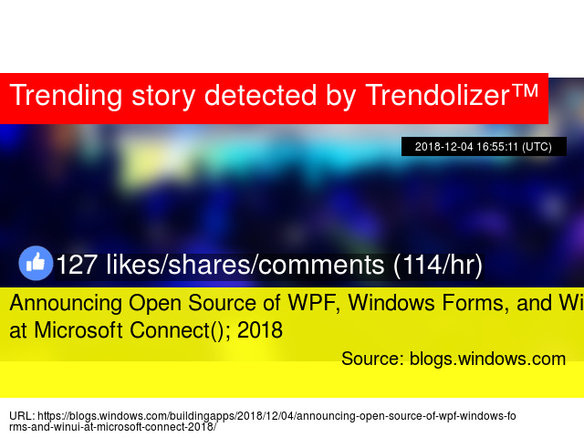 Announcing Open Source of WPF, Windows Forms, and WinUI at Microsoft