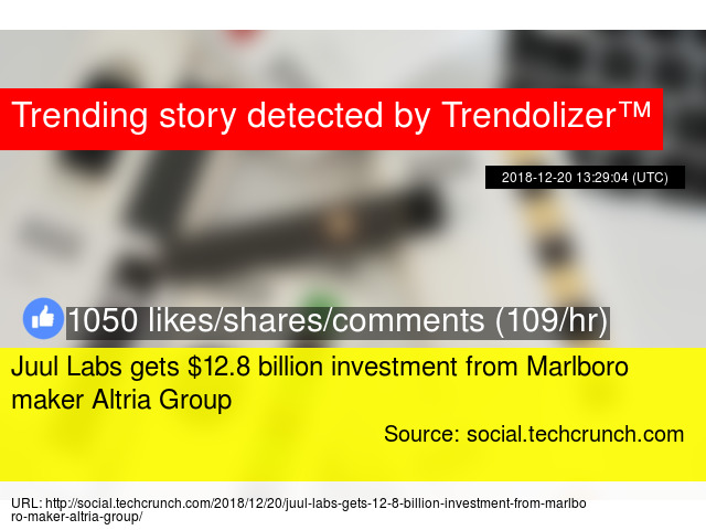 Juul Labs gets $12 8 billion investment from Marlboro maker Altria Group