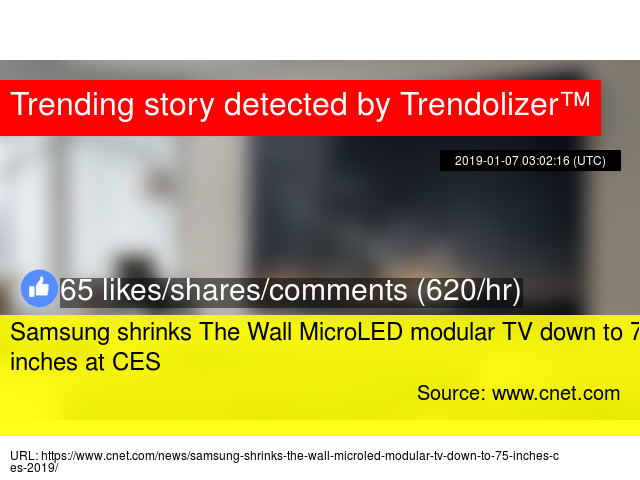 Samsung shrinks The Wall MicroLED modular TV down to 75 inches at CES