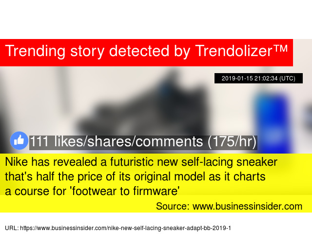 51e298a63 Nike has revealed a futuristic new self-lacing sneaker that  039 s half the  price of its original model as it charts a course for   039 footwear to ...