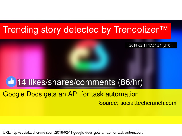 Google Docs gets an API for task automation