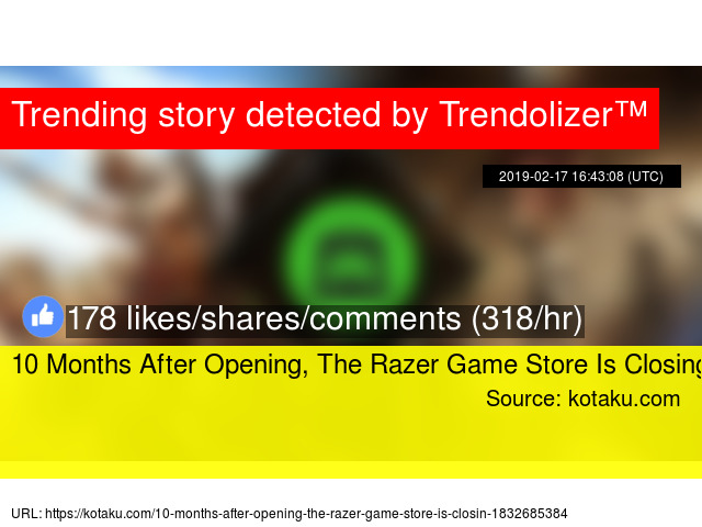 10 Months After Opening, The Razer Game Store Is Closing