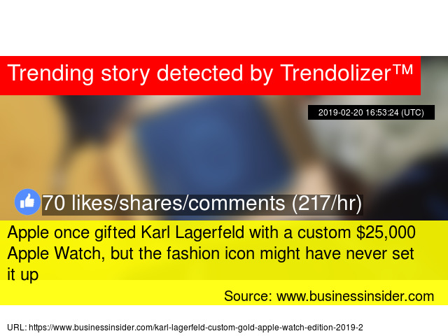Apple once gifted Karl Lagerfeld with a custom $25,000 Apple