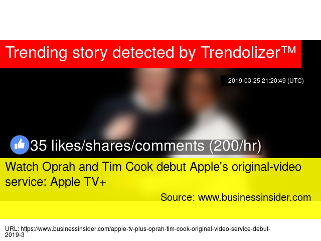 Watch Oprah and Tim Cook debut Apple'