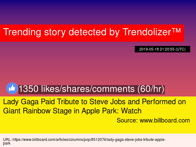 Lady Gaga Paid Tribute to Steve Jobs and Performed on Giant