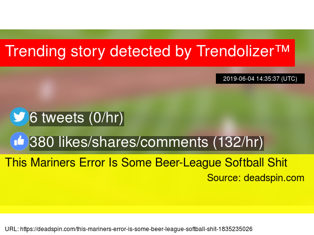This Mariners Error Is Some Beer-League Softball Shit