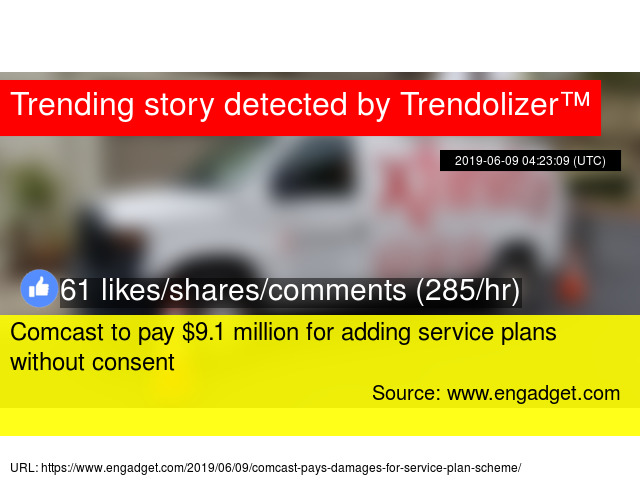 Comcast to pay $9 1 million for adding service plans without