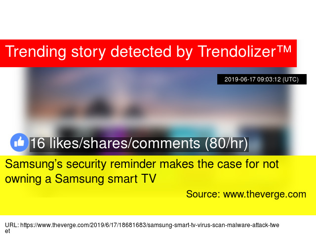 Samsung's security reminder makes the case for not owning a