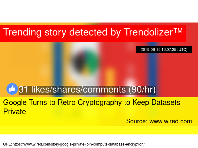 Google Turns to Retro Cryptography to Keep Datasets Private