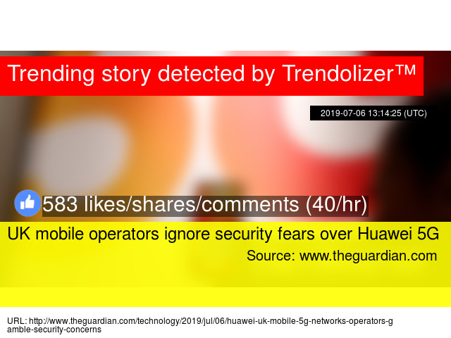 UK mobile operators ignore security fears over Huawei 5G