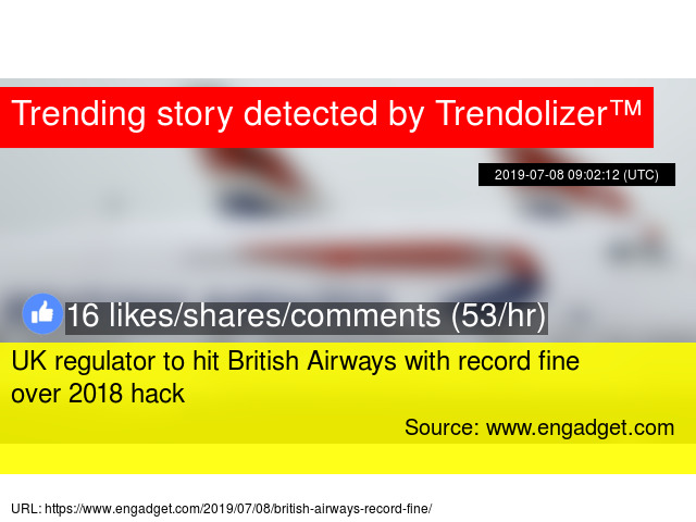 UK regulator to hit British Airways with record fine over