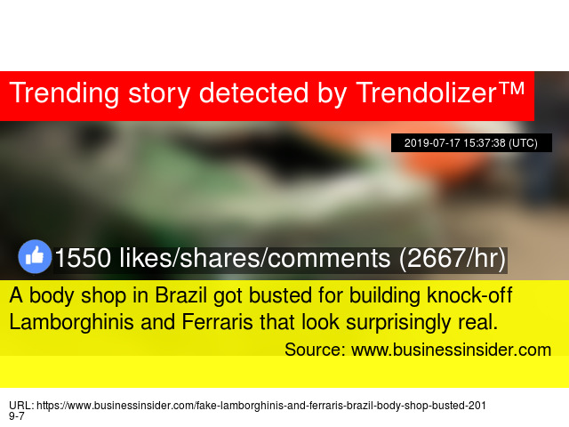 A body shop in Brazil got busted for building knock-off