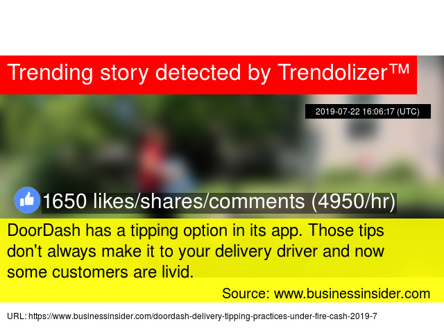 DoorDash has a tipping option in its app  Those tips don'