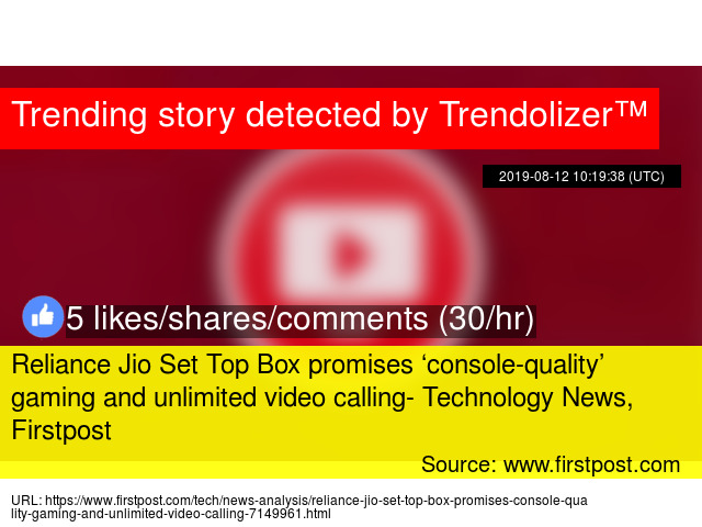 Reliance Jio Set Top Box promises 'console-quality' gaming and