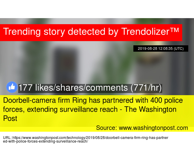 Doorbell-camera firm Ring has partnered with 400 police