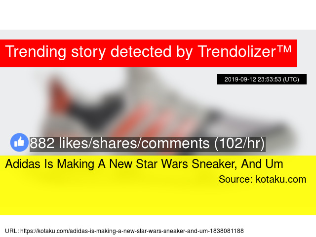 Adidas Is Making A New Star Wars Sneaker, And Um