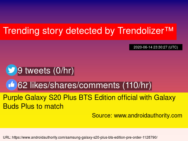 Purple Galaxy S20 Plus Bts Edition Official With Galaxy Buds Plus To Match