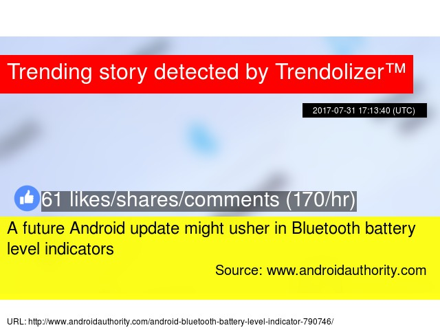 A future Android update might usher in Bluetooth battery