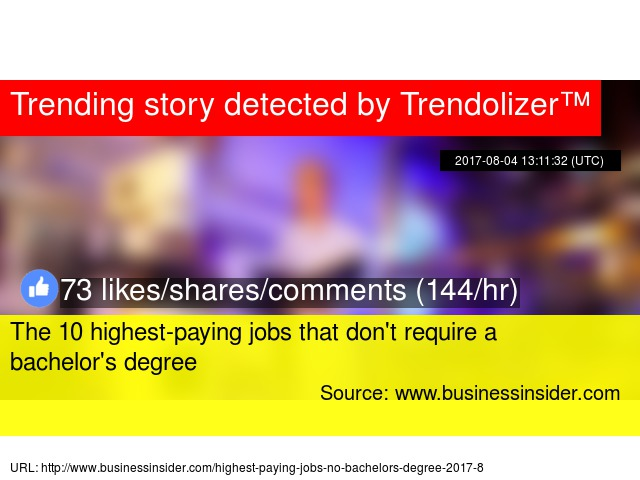 The 10 highest-paying jobs that don\'t require a bachelor\'s degree