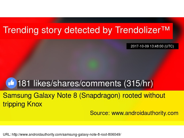 Samsung Galaxy Note 8 (Snapdragon) rooted without tripping Knox