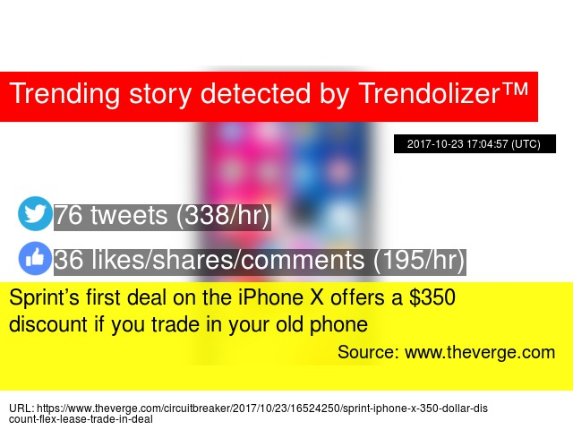 8a4cc98c9 Sprint s first deal on the iPhone X offers a  350 discount if you trade in your  old phone