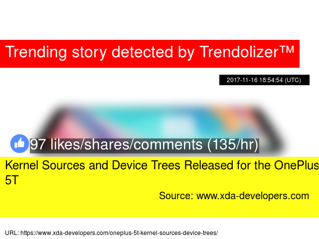Kernel Sources and Device Trees Released for the OnePlus 5T