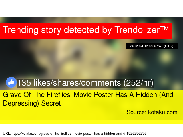 Grave Of The Fireflies 39 Movie Poster Has A Hidden And Depressing Secret