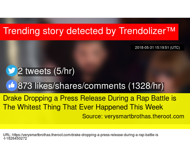 Drake Dropping a Press Release During a Rap Battle is The