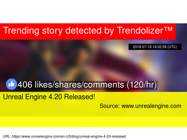 Unreal Engine 4 20 Released!
