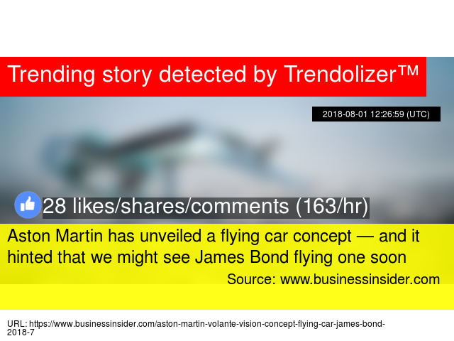 Aston Martin Has Unveiled A Flying Car Concept And It Hinted That