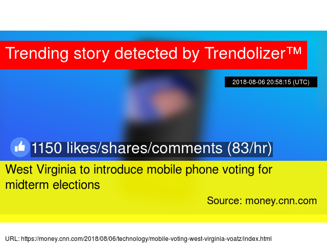 West Virginia to introduce mobile phone voting for midterm elections