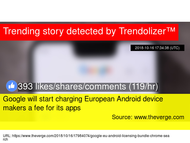 Google will start charging European Android device makers a