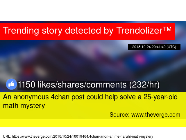 An anonymous 4chan post could help solve a 25-year-old math